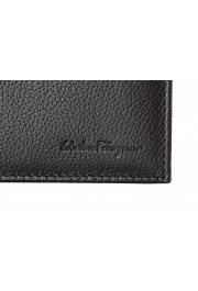 Salvatore Ferragamo Men's Dark Brown Pebbled Leather Bifold Wallet: Picture 2