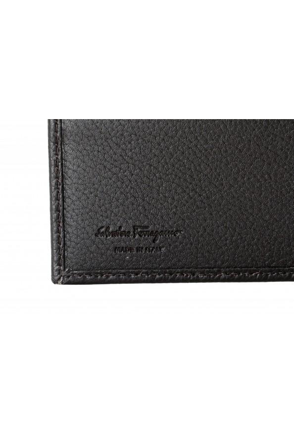 Salvatore Ferragamo Men's Dark Brown Pebbled Leather Bifold Wallet: Picture 4