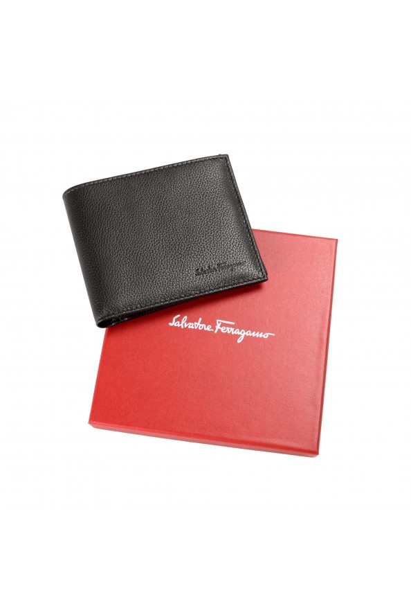 Salvatore Ferragamo Men's Dark Brown Pebbled Leather Bifold Wallet: Picture 6