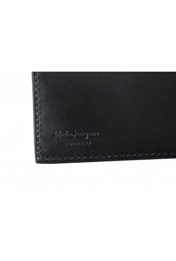 Salvatore Ferragamo Men's Black Pebbled Leather Logo Print Bifold Wallet: Picture 3