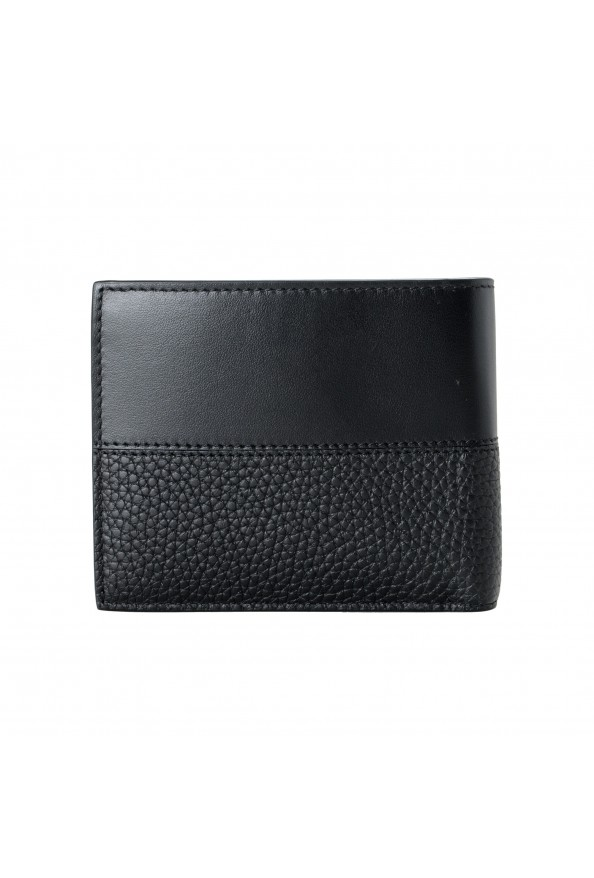 Salvatore Ferragamo Men's Black Pebbled Leather Logo Print Bifold Wallet: Picture 4