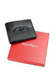 Salvatore Ferragamo Men's Black Pebbled Leather Logo Print Bifold Wallet: Picture 5