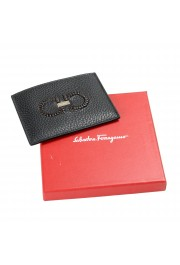 Salvatore Ferragamo Unisex 100% Leather Black Credit Card Case: Picture 4