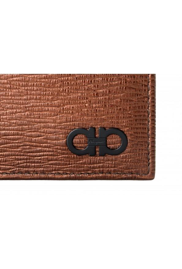 Salvatore Ferragamo Men's Logo Bronze 100% Textured Leather Bifold Wallet: Picture 2