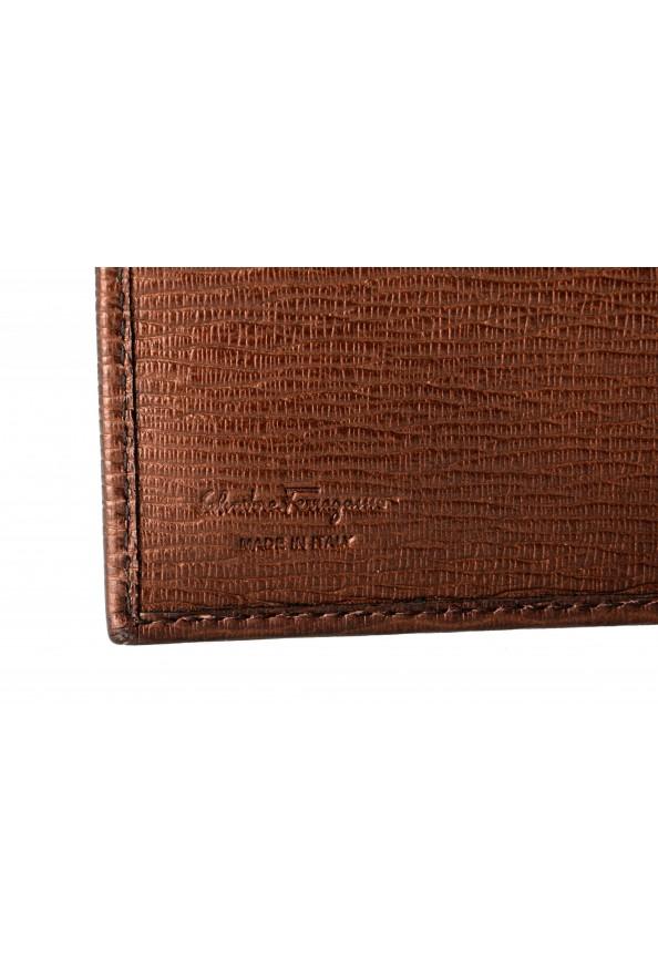 Salvatore Ferragamo Men's Logo Bronze 100% Textured Leather Bifold Wallet: Picture 4