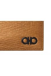 Salvatore Ferragamo Men's Logo Light Bronze 100% Textured Leather Bifold Wallet: Picture 2