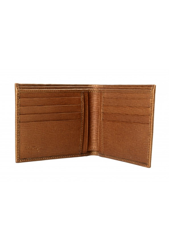Salvatore Ferragamo Men's Logo Light Bronze 100% Textured Leather Bifold Wallet: Picture 3
