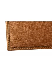 Salvatore Ferragamo Men's Logo Light Bronze 100% Textured Leather Bifold Wallet: Picture 4