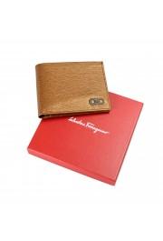 Salvatore Ferragamo Men's Logo Light Bronze 100% Textured Leather Bifold Wallet: Picture 6