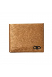 Salvatore Ferragamo Men's Logo Light Bronze 100% Textured Leather Bifold Wallet