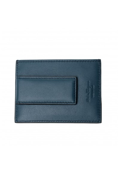 Salvatore Ferragamo Men's 100% Textured Leather Credit Card Case Money Clip: Picture 2