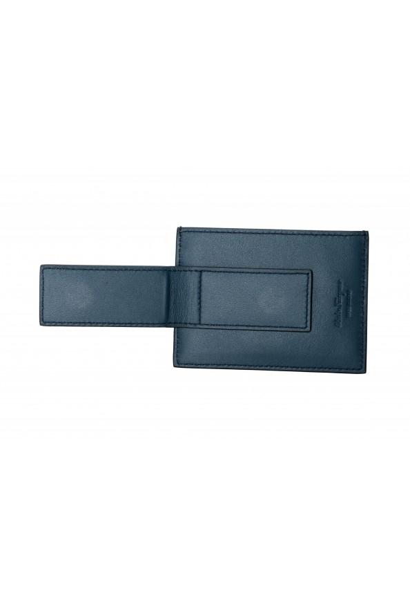 Salvatore Ferragamo Men's 100% Textured Leather Credit Card Case Money Clip: Picture 3