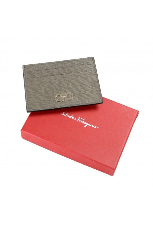 Salvatore Ferragamo Men's 100% Textured Leather Credit Card Case Money Clip: Picture 5