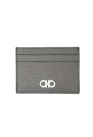 Salvatore Ferragamo Men's 100% Textured Leather Credit Card Case Money Clip
