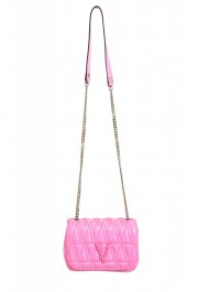 Versace Women's Pink Virtus Quilted Leather Evening Bag