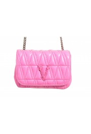 Versace Women's Pink Virtus Quilted Leather Evening Bag: Picture 2