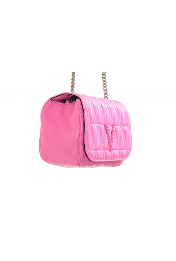 Versace Women's Pink Virtus Quilted Leather Evening Bag: Picture 3