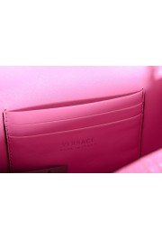 Versace Women's Pink Virtus Quilted Leather Evening Bag: Picture 6