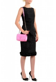 Versace Women's Pink Virtus Quilted Leather Evening Bag: Picture 7