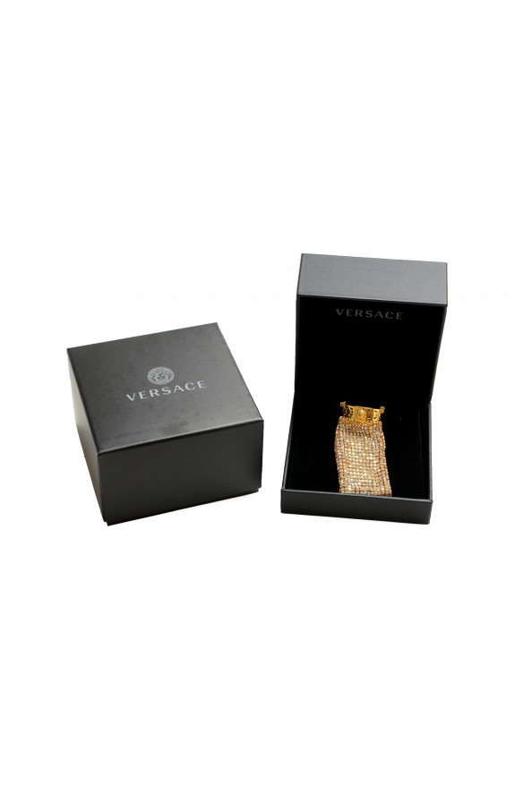 "Versace Women's ""Oro Tribute"" Medusa Logo Sparkle Miniature Bag"