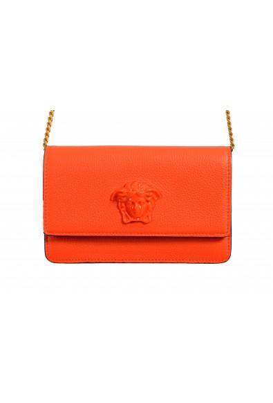 Versace Women's Tribute Orange Leather Clutch Wallet Shoulder Bag: Picture 2