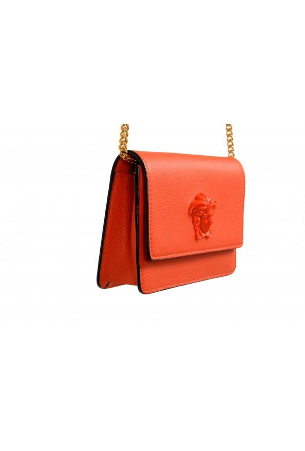 Versace Women's Tribute Orange Leather Clutch Wallet Shoulder Bag: Picture 3