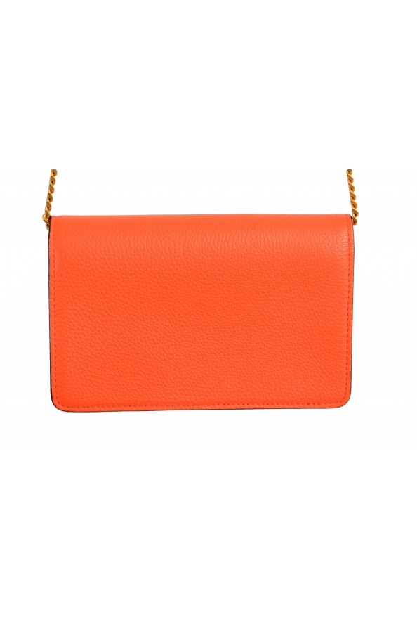 Versace Women's Tribute Orange Leather Clutch Wallet Shoulder Bag: Picture 4