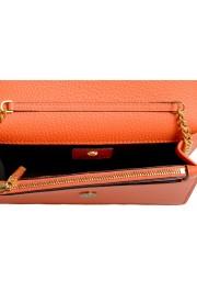 Versace Women's Tribute Orange Leather Clutch Wallet Shoulder Bag: Picture 5