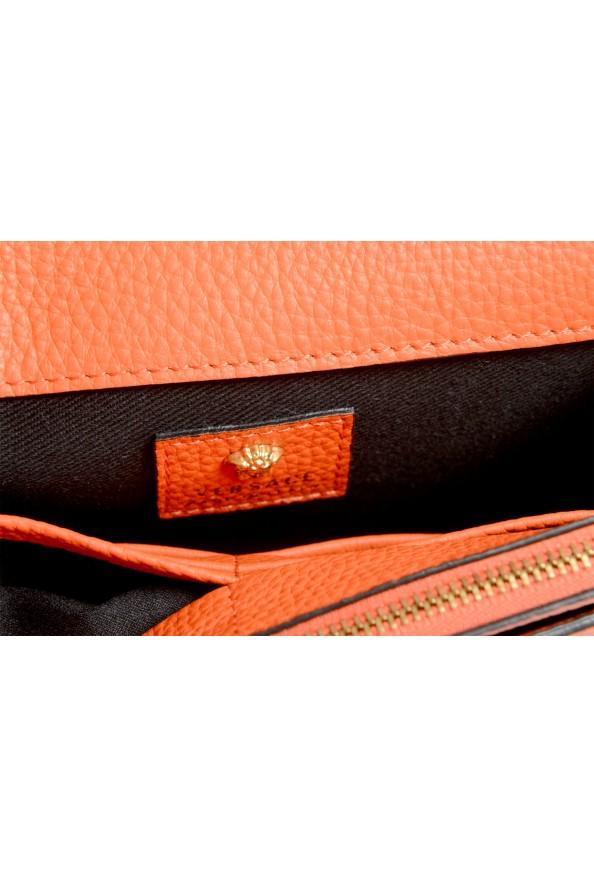 Versace Women's Tribute Orange Leather Clutch Wallet Shoulder Bag: Picture 6