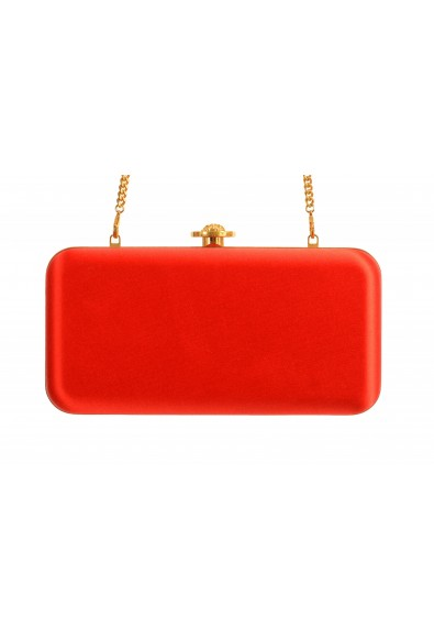 Versace Women's Tribute Orange Satin & Leather Clutch Shoulder Bag: Picture 2