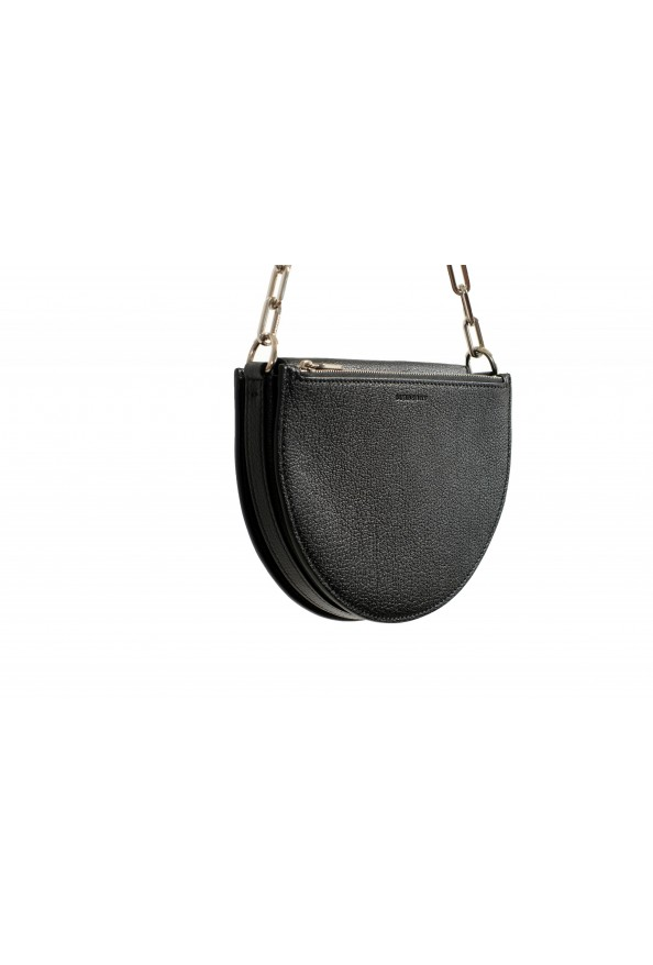 Burberry Women's Black Textured Leather Clutch Shoulder Bag: Picture 4