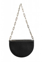 Burberry Women's Black Textured Leather Clutch Shoulder Bag
