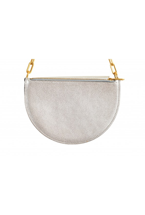 Burberry Women's Silver Textured Leather Clutch Shoulder Bag: Picture 2
