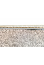 Burberry Women's Silver Textured Leather Clutch Shoulder Bag: Picture 3