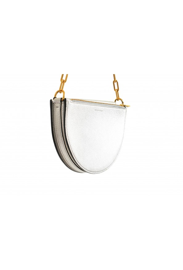 Burberry Women's Silver Textured Leather Clutch Shoulder Bag: Picture 4