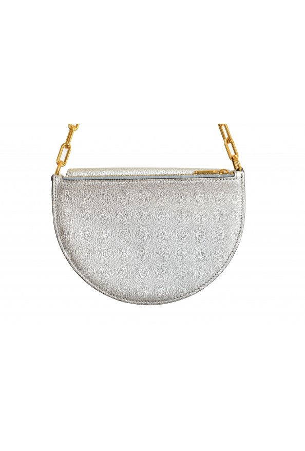Burberry Women's Silver Textured Leather Clutch Shoulder Bag: Picture 5