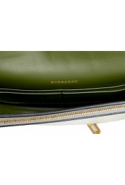 Burberry Women's Silver Textured Leather Clutch Shoulder Bag: Picture 6
