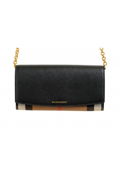 """Burberry Women's """"HENLEY"""" Checkered Canvas Leather Clutch Wallet Shoulder Bag: Picture 2"""