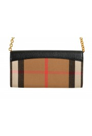 """Burberry Women's """"HENLEY"""" Checkered Canvas Leather Clutch Wallet Shoulder Bag: Picture 5"""
