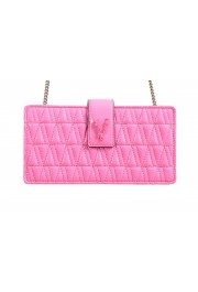 Versace Women's Flamingo Pink Leather Virtus Quilted Mini Bag: Picture 2