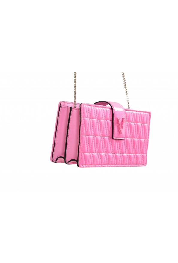 Versace Women's Flamingo Pink Leather Virtus Quilted Mini Bag: Picture 3