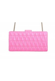 Versace Women's Flamingo Pink Leather Virtus Quilted Mini Bag: Picture 4