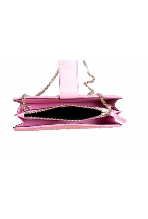 Versace Women's Flamingo Pink Leather Virtus Quilted Mini Bag: Picture 5