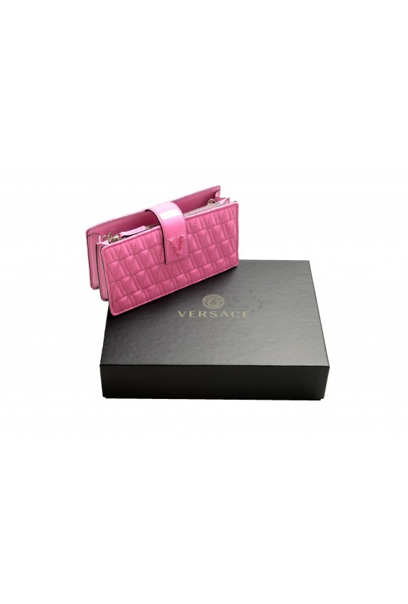 Versace Women's Flamingo Pink Leather Virtus Quilted Mini Bag: Picture 6