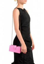 Versace Women's Flamingo Pink Leather Virtus Quilted Mini Bag: Picture 7