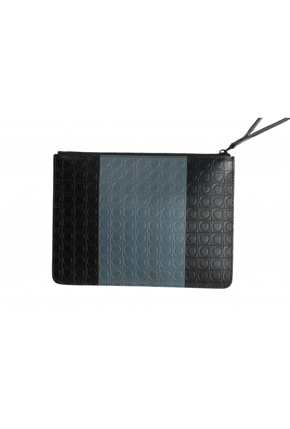 Salvatore Ferragamo Women's Logo Print Textured Leather Clutch Bag: Picture 3