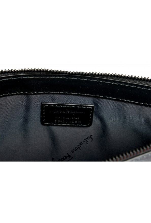 Salvatore Ferragamo Women's Logo Print Textured Leather Clutch Bag: Picture 5