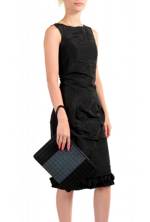 Salvatore Ferragamo Women's Logo Print Textured Leather Clutch Bag: Picture 7
