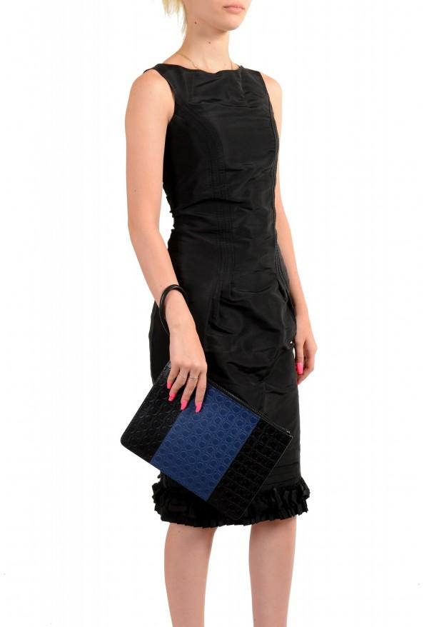 Salvatore Ferragamo Women's Logo Print Textured Leather Clutch Bag: Picture 6