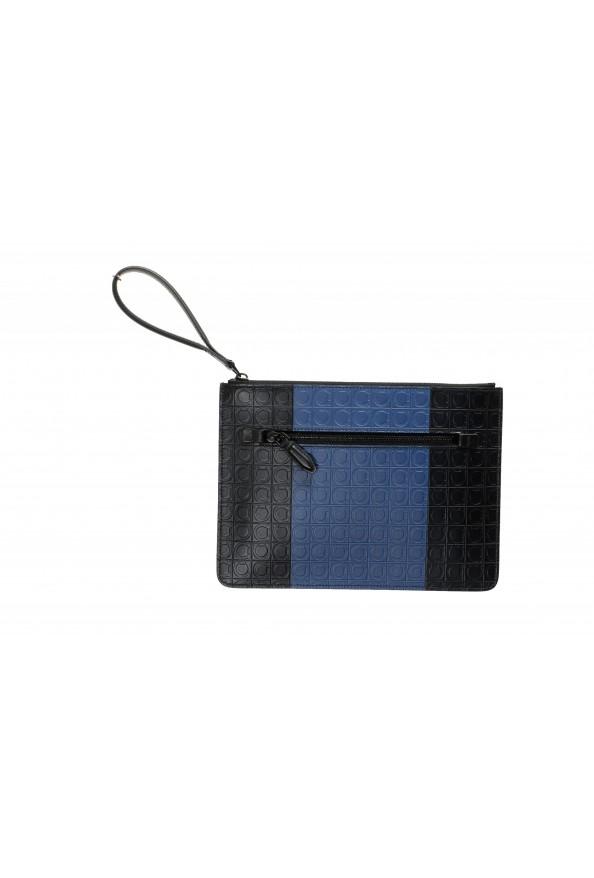 Salvatore Ferragamo Women's Logo Print Textured Leather Clutch Bag
